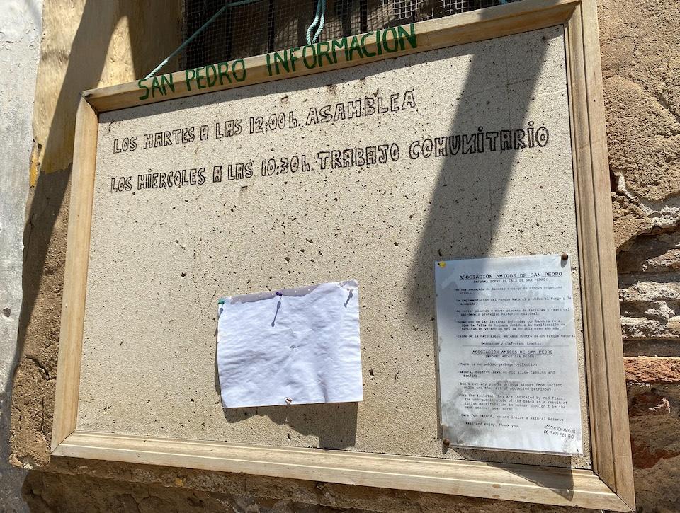 Hippie gemeenschap in Cala de San Pedro