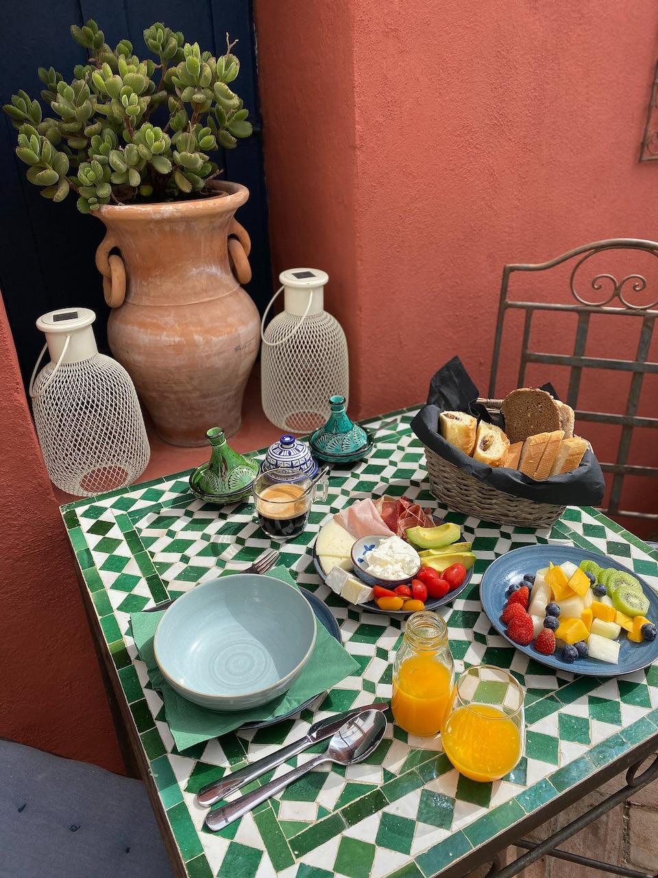 Ontbijten Casa Aire de Lecrin