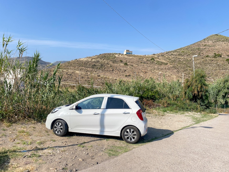 parkeren Cala de San Pedro
