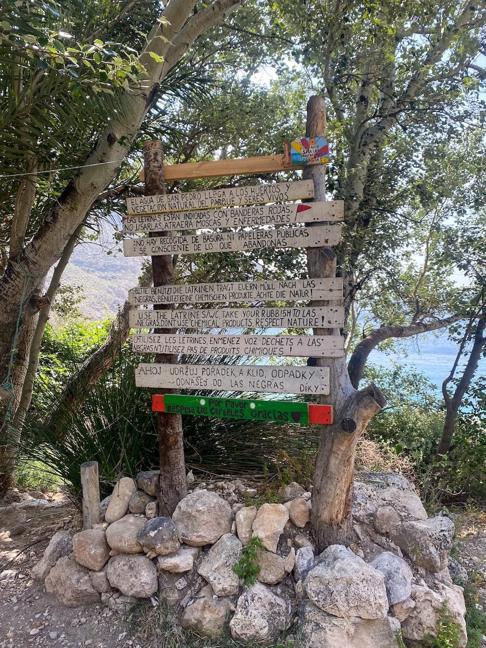 regels in Cala de San Pedro