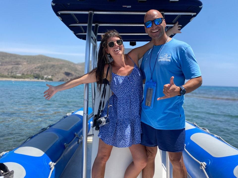 Met de boot van Cala de San Pedro naar Las Negras