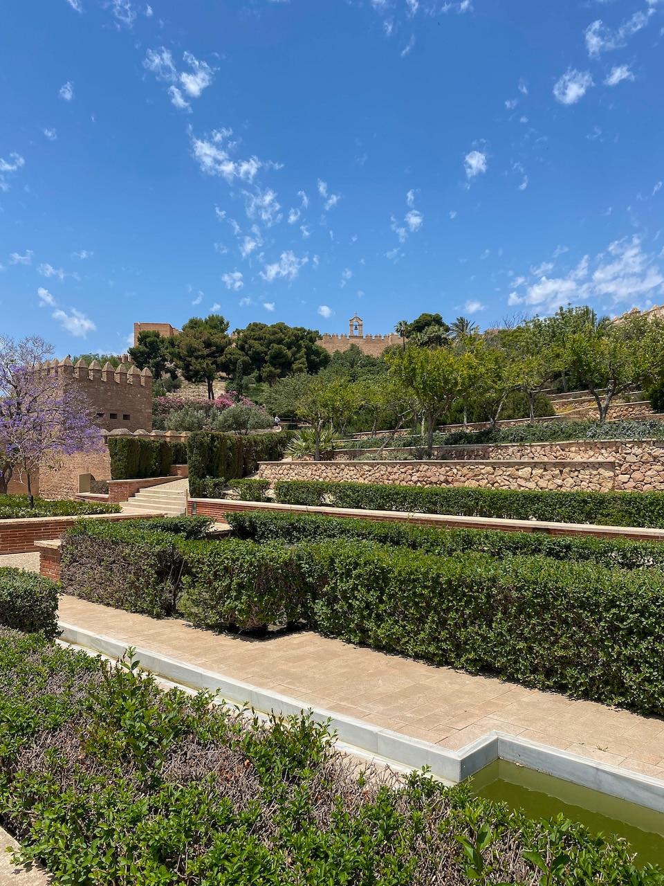 de tuinen van de Alcazaba in Almeria