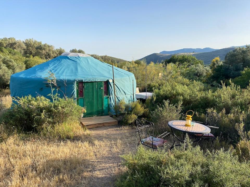 Bijzonder overnachten Las Alpujarras Andalusië - mongoolse tent - Alora Yurts