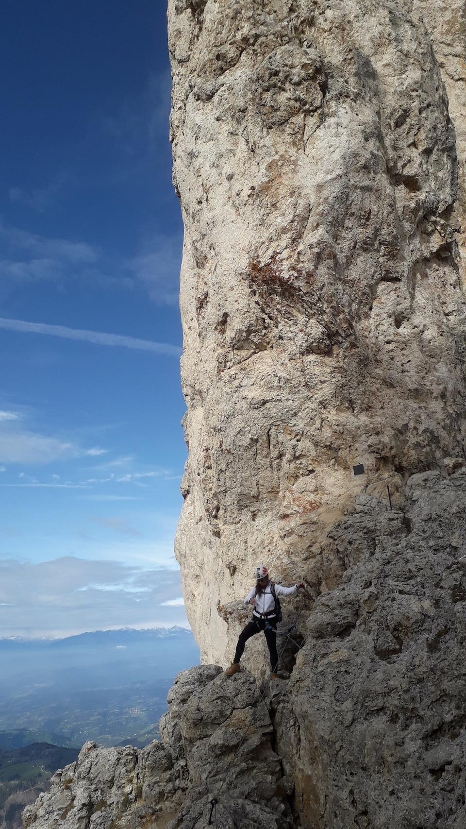 adrenaline ervaren tijdens het klimmen in Italie