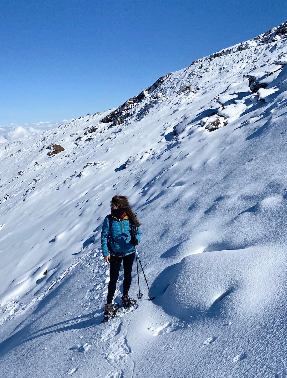 Pico Veleta beklimmen in de sneeuw - Las Alpujarras