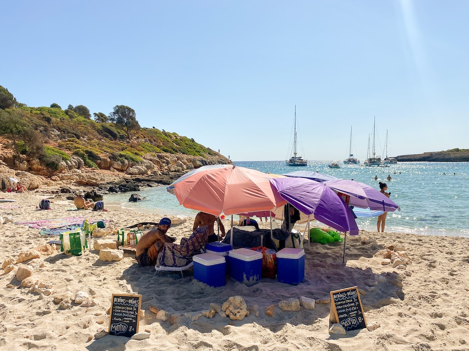 route naar Cala Varques het mooiste strand op Mallorca
